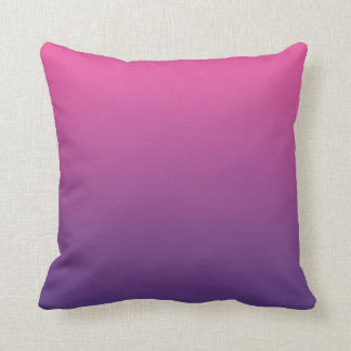 """Pink And Purple Ombre"" Cushion"