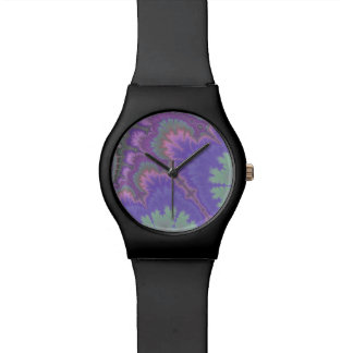 Pink And Purple Paisley Watch