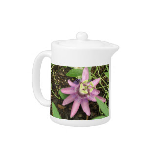 Pink and Purple Passionflower Teapot