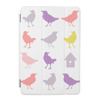 Pink and Purple Pastel Birds with Birdhouse iPad Mini Cover