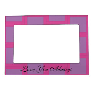 Pink and Purple Pattern Magnetic Frame