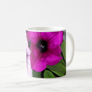 Pink And Purple Petunia Coffee Mug