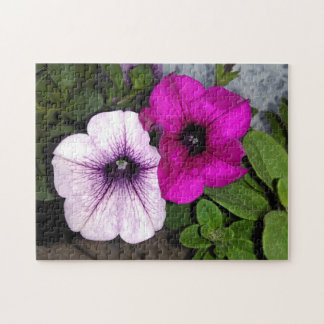 Pink And Purple Petunia Jigsaw Puzzle