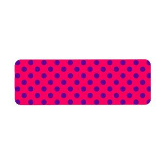 Pink and Purple Polka Dot