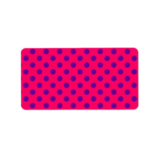 Pink and Purple Polka Dot Label