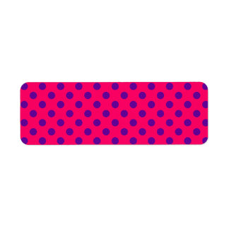 Pink and Purple Polka Dot Return Address Label
