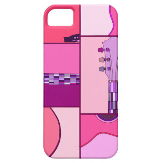 Pink and Purple Pop Art Guitar iPhone 5 Case