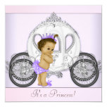 Pink and Purple Princess Baby Shower Custom Invitation