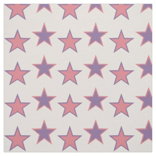 Pink and Purple Princess Stars Fabric