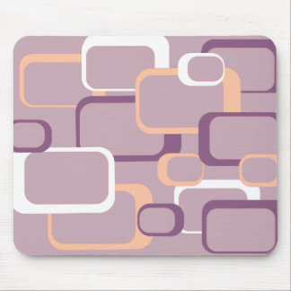 Pink and Purple Retro Square Mousepad