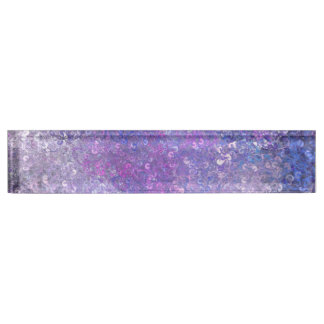 Pink And Purple Sequins Bling Desk Name Plate