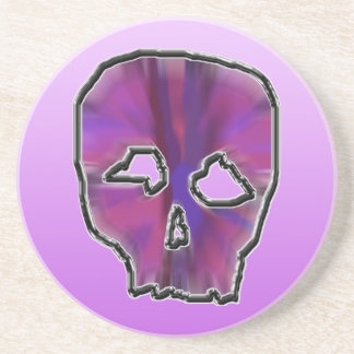 Pink and Purple Skull. Coaster