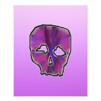 Pink and Purple Skull. Flyer