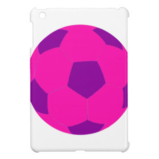 Pink and Purple Soccer Ball iPad Mini Covers