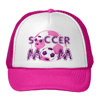 Pink and Purple Soccer MOM Hat