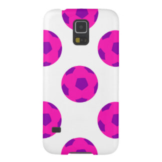 Pink and Purple Soccerball Pattern Case For Galaxy S5