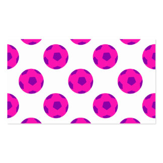 Pink and Purple Soccerball Pattern Pack Of Standard Business Cards