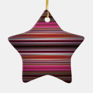 Pink and purple stripes pattern christmas ornament