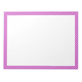 Pink and Purple Tartan Notepad