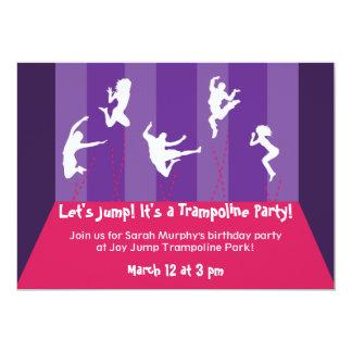 Pink and Purple Trampoline Party Inviation 13 Cm X 18 Cm Invitation Card