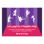 Pink and Purple Trampoline Party Inviation Personalised Announcements