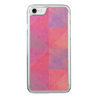 Pink and Purple Triangles Watercolor Art Carved iPhone 8/7 Case