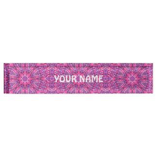 Pink And Purple Vintage  Desk Nameplate