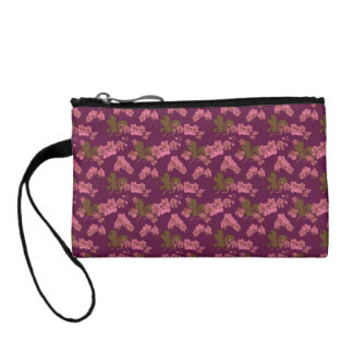 Pink and Purple Vintage Floral Coin Purse