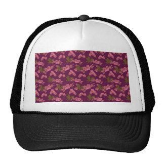 Pink and Purple Vintage Floral Hats