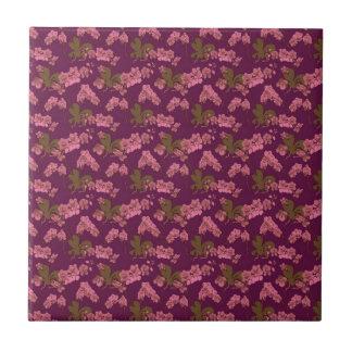 Pink and Purple Vintage Floral Tiles