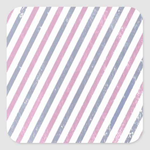 Pink and Purple Vintage Stripe Square Sticker
