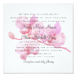 Pink and Purple Watercolor Orchid Square Wedding 13 Cm X 13 Cm Square Invitation Card