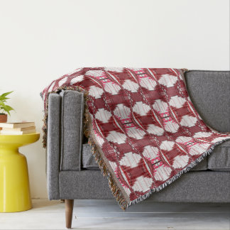 Pink And Red Abstract Pattern Throw Blanket
