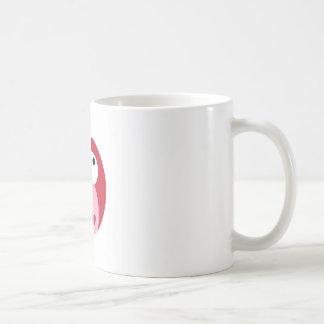 Pink and Red Cartoon Owl Coffee Mugs