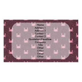Pink and Red Crab Pattern Pack Of Standard Business Cards