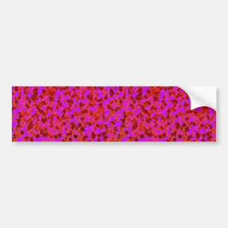 Pink and Red Graphic Art Design Bumper Sticker