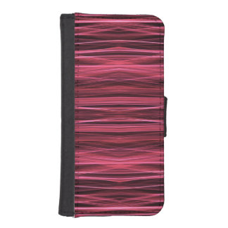 Pink and Red Lines on Black iPhone SE/5/5s Wallet Case