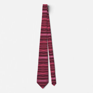 Pink and Red Lines on Black Tie