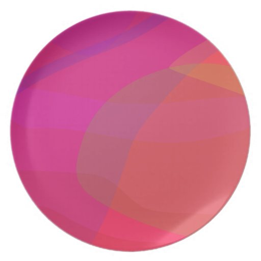 Pink and Red Party Plate