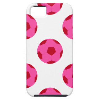 Pink and Red Soccer Ball Pattern iPhone 5 Cover