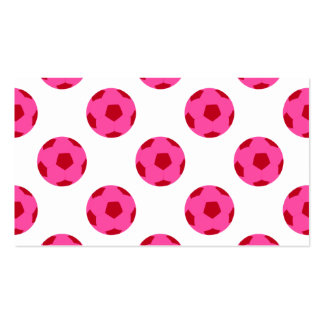 Pink and Red Soccer Ball Pattern Pack Of Standard Business Cards
