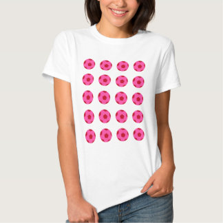 Pink and Red Soccer Ball Pattern Tee Shirts