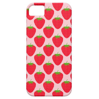 Pink and Red Strawberry Pattern. Barely There iPhone 5 Case