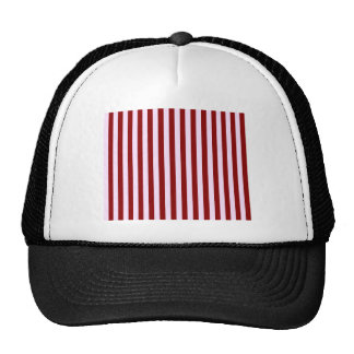 Pink and Red Stripes Trucker Hat