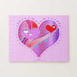 Pink and Red Valentine Heart Puzzle