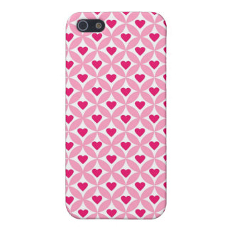 Pink and Red Valentine's Day Hearts Pattern iPhone 5 Case