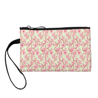 Pink and Red Vintage Floral Coin Purse