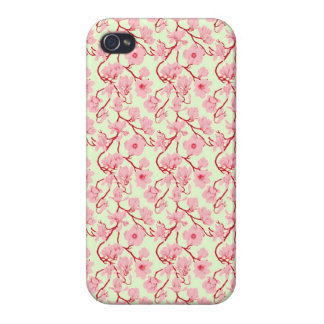 Pink and Red Vintage Floral Cover For iPhone 4