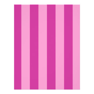 Pink and Red-violet Stripes 21.5 Cm X 28 Cm Flyer