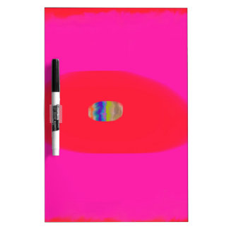 Pink and Red with Egg Abstract design Dry Erase Board